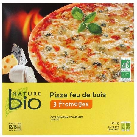 Nature Bio pizza cuite au feu de bois 3 fromages bio 350g