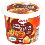 Cora rillettes de poulet rôti en cocotte pot 220g