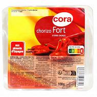 Cora chorizo tranché barquette 100g