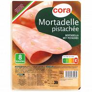 Cora mortadelle pur porc pistachée 8 tranches 120g