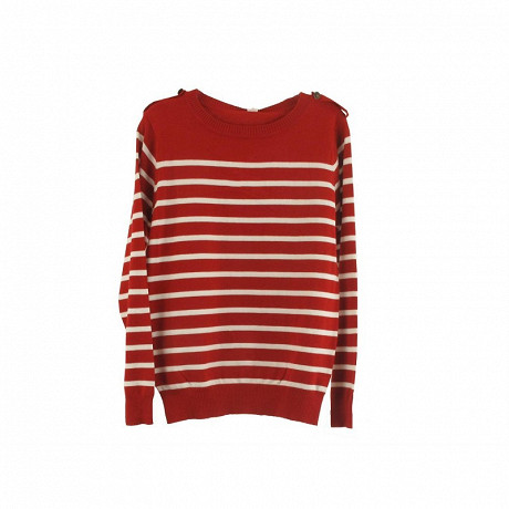 Pull manches longues femme RAYE ROUGE T50\52