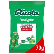 Ricola eucalyptus sans sucres (avec extrait de stévia) sachet de 70g