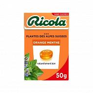 Ricola orange menthe sans sucres boite 50g