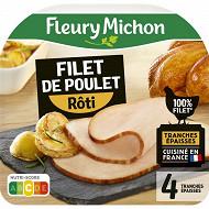 Fleury michon filet de poulet rôti supérieur 4 tranches épaisses 120g