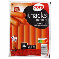 Cora saucisses de Strasbourg x6 210g