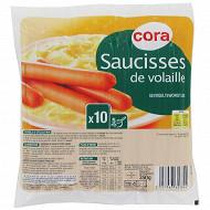 Cora saucisses de volaille x10 soit 350g