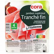 Cora jambon tranché fin à l'italienne 4 tranches 120g