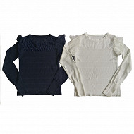 Pull manches longues femme MARINE 50\52