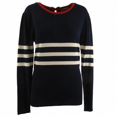 Pull manches longues femme NAVY/ RED T50\52