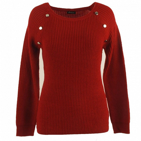 Pull manches longues femme ROUGE T50\52