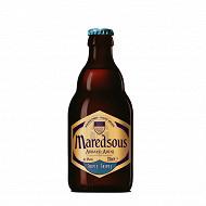 Bière d'abbaye ambrée Maredsous 33 cl 10% Vol.