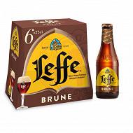 Leffe brune 6x25cl 6.5%vol