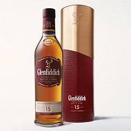 Glenfiddich 15 ans 70cl 40% vol étui cuivre