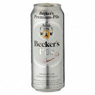 Becker's Pils bière blonde boite 50 cl 4,9% Vol.