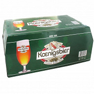Koenigsbier bière blonde 24 x 25cl 4%vol