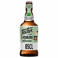 Fischer 3 houblon alsacien bière blonde houblonnée 65cl 7.2%vol
