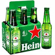 Heineken bière blonde premium 6x33cl 5%vol