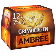 Grimbergen ambrée 12x25cl6.5% vol