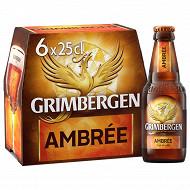 Grimbergen ambrée 6x25 cl 6,5%vol