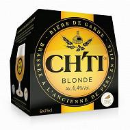 Ch'ti bière blonde 6 x 25 cl 6,4% Vol.