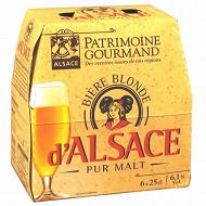 Patrimoine Gourmand bière d'Alsace 6 x 25 cl 6,1% Vol.