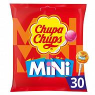 Chupa Chups 30 mini sucettes fruits sachet de 180g