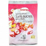 Cora mini bonbons sans sucres parfum fruits 150g