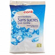 Cora mini bonbons sans sucres parfum menthe 150g