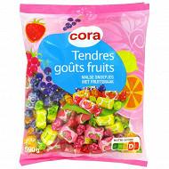 Cora tendres goût fruits 590g