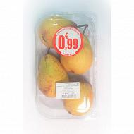 Poire Rocha barquette 4 fruits