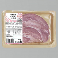 Langue de porc en gelée frais emballé (2X90g)  Cora
