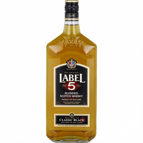 Label 5 scotch whisky classic black 1L 40%vol