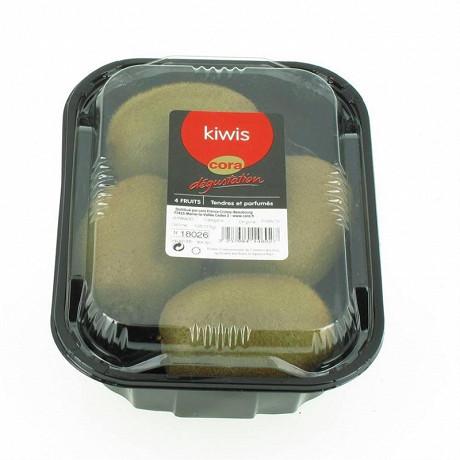 Cora dégustation kiwi barquette de 4 fruits
