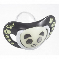 2 sucettes silicone  panda phosphorescente 6-18 mois Tigex
