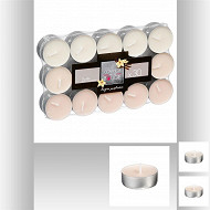 Lot de 30 bougies chauffe-plat parfum vanille