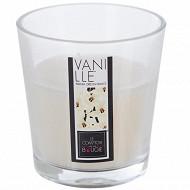 Bougie verre parfum vanille 90g