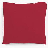 Taie d'oreiller 63x63 uni rouge 57 fils