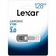 Lexar Clé USB 128gb 3.0 jumpdrive V100
