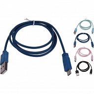 Câble de charge usb et données,usb à micro-usb, 1 m