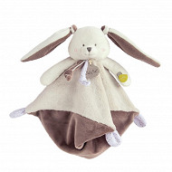 """Doudou lapin taupe """"Les Layettes"""" Baby Nat"""