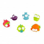 Badabulle jouet de bain rigolo splash océan x6