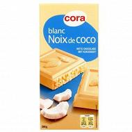 Cora chocolat blanc noix de coco 200 g