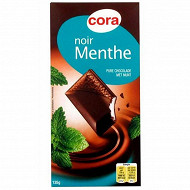 Cora chocolat noir fourré menthe 135g