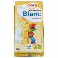 Cora Kido tablettes chocolat blanc 2 x 100g