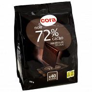 Cora chocolat noir dégustation 72% cacao x40 200g