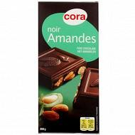 Cora chocolat noir supérieur aux amandes entières 200g