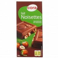 Cora chocolat lait supérieur aux noisettes 200g
