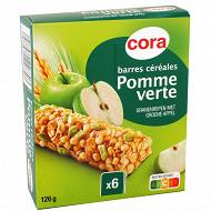 Cora 6 barres de céréales à la pomme verte 126g