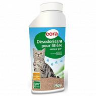 Cora désodorisant pour litière parfum pin flacon de 750g