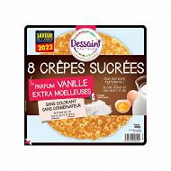 Dessaint traiteur crêpes sucrées parfum vanille x8 400g